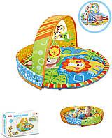 Коврик для малышей 023-24D 88*65 см, манеж, дуга, подвески 3шт, в коробке
