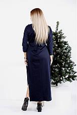 Платье двойка женское трикотажное размеры: 42-74, фото 2
