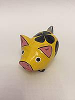 """Статуэтка """"Свинка желтая"""" (8 см), символ 2019 года"""