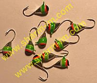 Мормышка вольфрамовая Bravo 1140-1-SIL 4,0 мм 0,99 гр. Капля с ушком крашенная