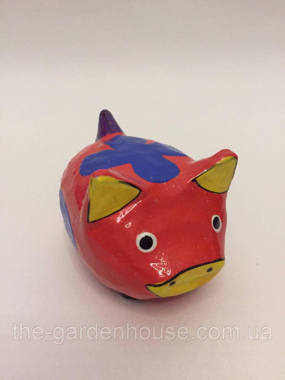 Статуэтка свиньи красная (9 см), символ 2019 года