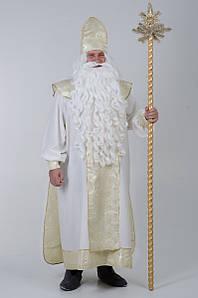 Посох Деда Мороза разборной  на 4 части украшенный макушкой звездой и искусственными ветвями