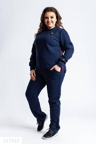 Замечательный женский спортивный очень теплый костюм размеры: 46-56, фото 2