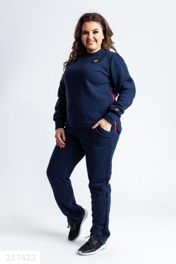 Замечательный женский спортивный очень теплый костюм размеры: 46-56