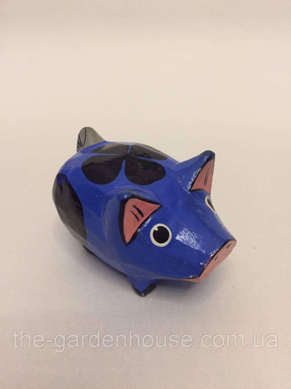 "Статуэтка ""Свинка синяя"" (8 см), символ 2019 года"