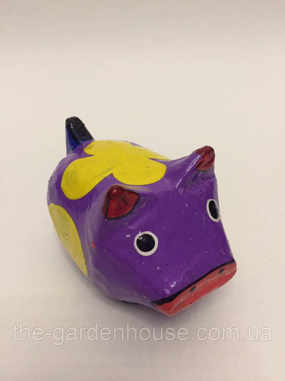 Статуэтка свиньи фиолетовая (9 см), символ 2019 года