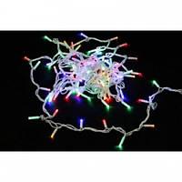 Гирлянда светодиодная LED 100 RGB прозрачный провод