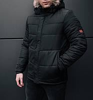"Мужская зимняя куртка Pobedov Winter ""LB"" Black, фото 1"