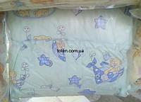 Защита для детской кроватки Мишки Голубенькие