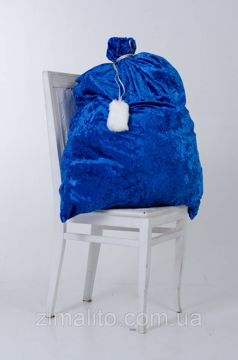 Мешок для подарков 75х100 см синий