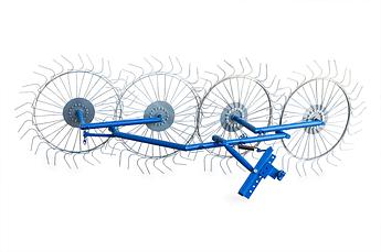 Грабли ворошилки для мотоблока навесные 4-х колесные (заводские ГОСТ, граблина 5мм)
