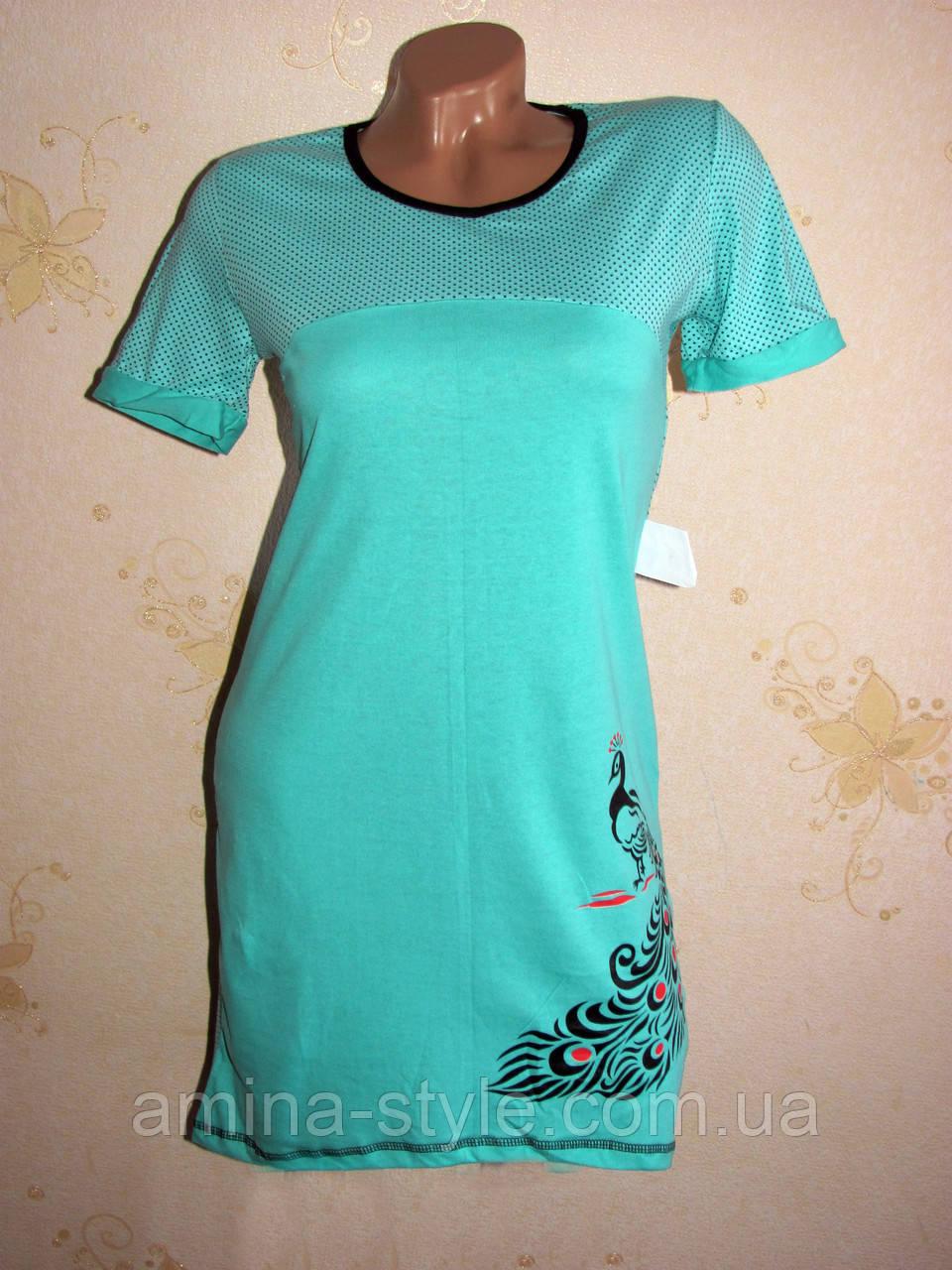 Женская ночная рубашка туника, хлопок 40-42