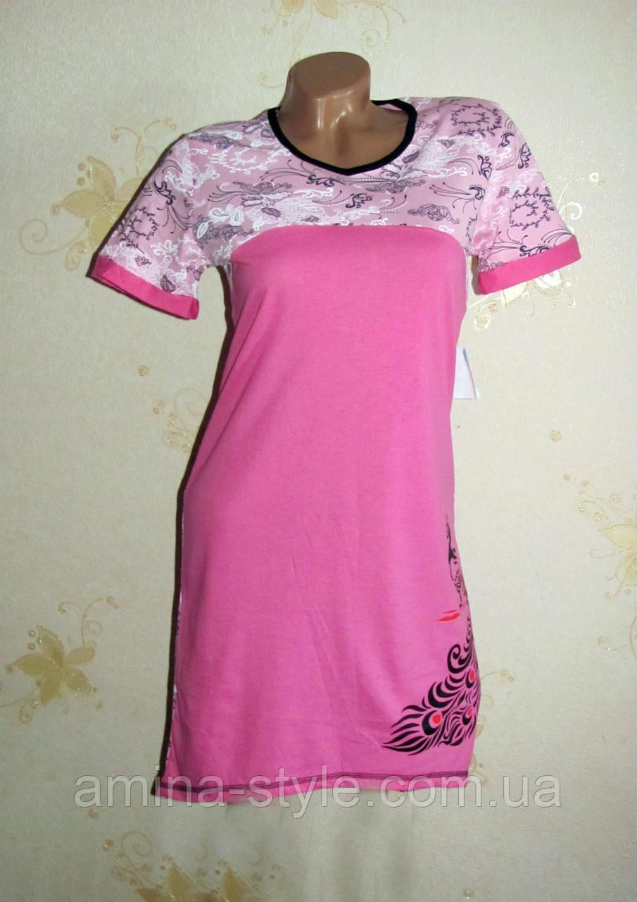Женская ночная рубашка туника, хлопок 44-46