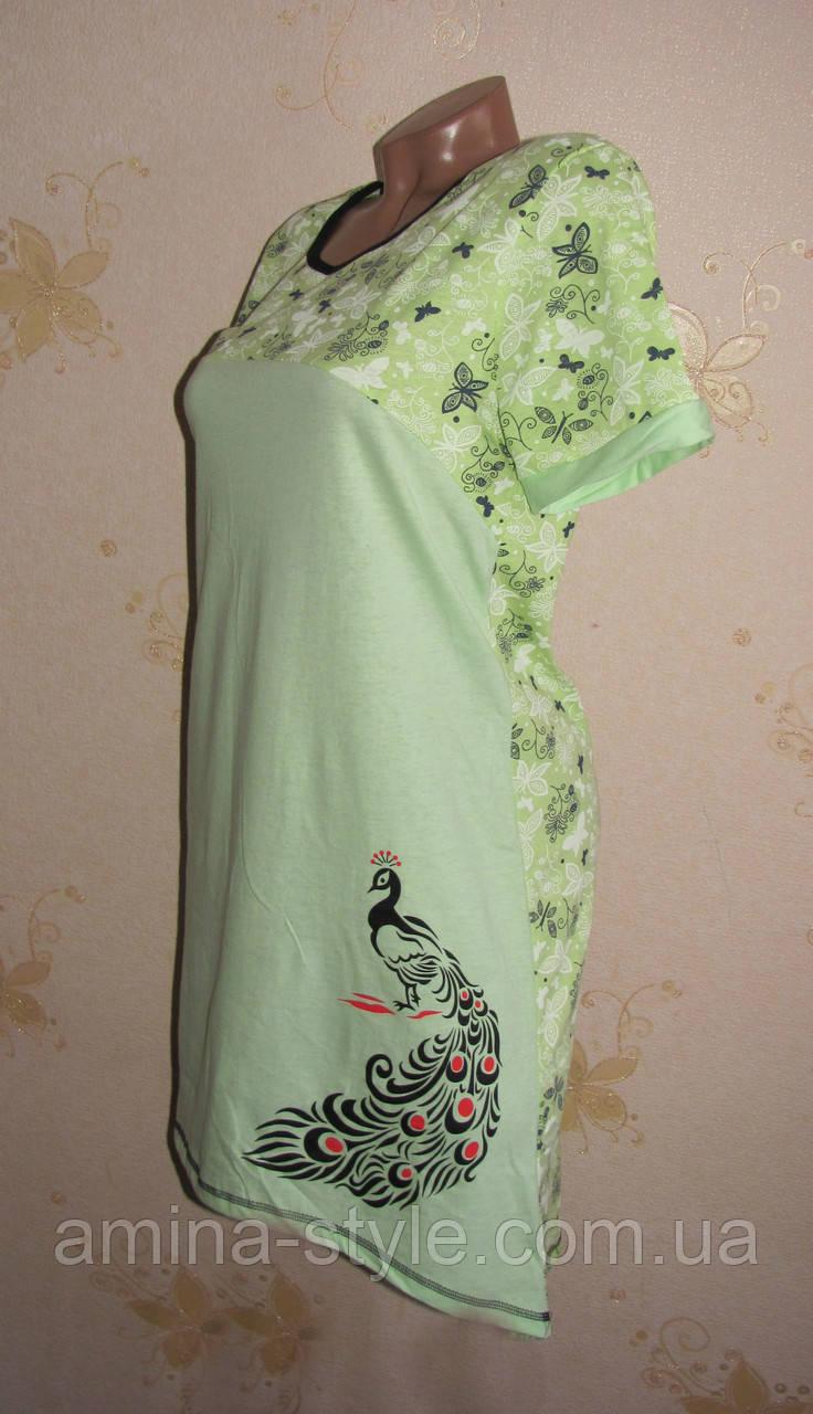 Женская ночная рубашка туника, хлопок 48-50