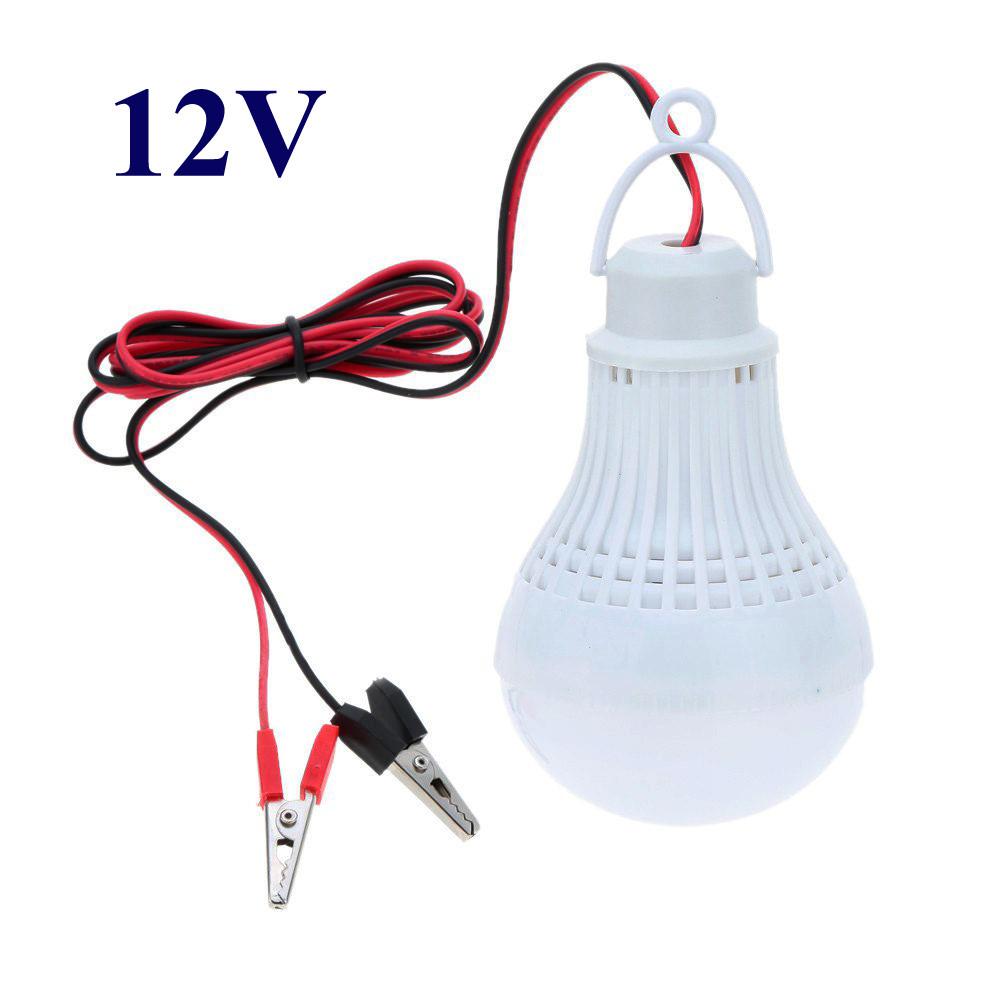 Лампа 12 Вольт 5 Вт с «крокодилами» для туризма