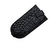 Ключница из кожи крокодила Ekzotic Leather Черная (ck01)
