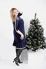 Платье женское повседневное деловое размеры: 42-74, фото 2
