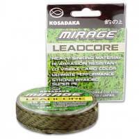 Лидкор Kosadaka Mirage Leadcore 45lb коричнево-черный, 10 м