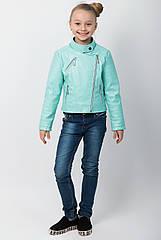 """Куртка-косуха для девочки """"Эмми"""" мята"""