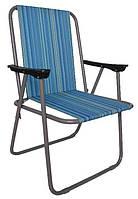 """Стул - кресло раскладной """" Фидель Полоска """" для рыбалки и отдыха от производителя"""