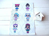 "Фетр мягкий с рисунком ""Новогодние шарики: Куколки Лол"", фото 1"
