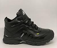 Ботинки мужские зимние Adidas Terrex 350 Seamless 817-2 черные реплика