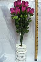 Роза с росой (12 шт) бордо, фото 1