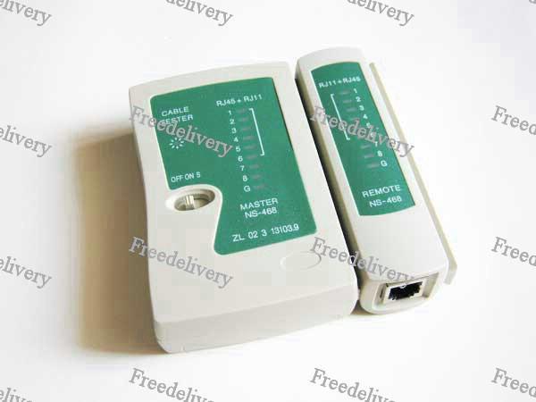 тестер сети Rj45 Rj11 кабеля зеленый