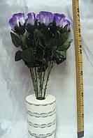 Роза атласная на ноге цветная. 60 см ( 150 шт)