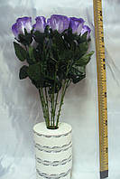 Роза атласная на ноге цветная. 60 см ( 150 шт), фото 1