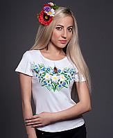 Вышитая футболка полевые цветы 2 | Вишита футболка польові квіти 2