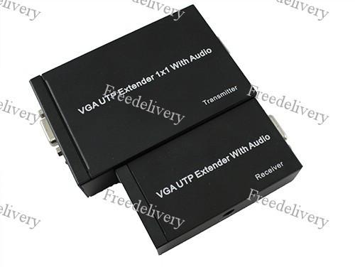 VGA удлинитель по UTP до 300м, со звуком, репитер, фото 1