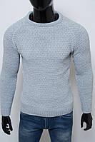 Свитер мужской теплый Figo 6582 серый