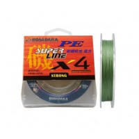 Шнур Kosadaka PE Super Line X4 150M 8,60KG Dark Green 0,16mm