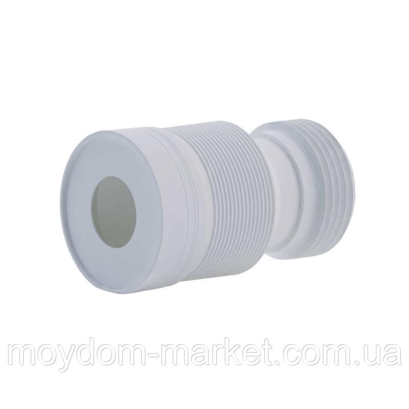 Гофра для унітазу ANI Plast (К828) D-115мм довжина 230 мм-500 мм