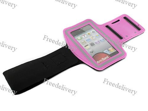Армбенд, спортивный чехол Iphone 4 4S, розовый