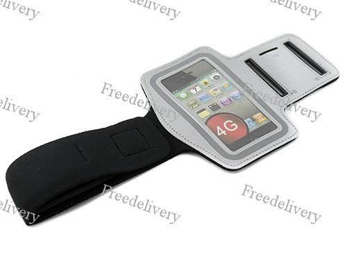 Армбенд, спортивный чехол Iphone 4 4S, серый