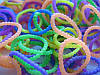 Набор разноцветных матовых пупырчатых резиночек для плетения браслетов (Rainbow Loom)