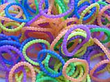 Набор разноцветных матовых пупырчатых резиночек для плетения браслетов (Rainbow Loom) , фото 2