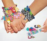 Набор разноцветных матовых пупырчатых резиночек для плетения браслетов (Rainbow Loom) , фото 3