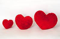 Сердце плюшевое мягкое 40 см.