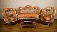"""Комплект плетеной мебели из лозы """"Элит"""" с диваном"""