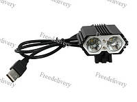 Двойной фонарь фара для велосипеда 2x CREE XM-L T6