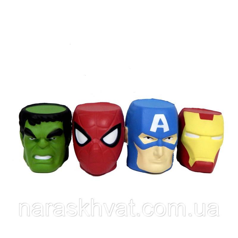 Сквиши-антистресс  Супергерои головы