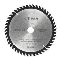 Диск пильный 160х20 мм S&R WoodCraft 48 зубов (238048160)
