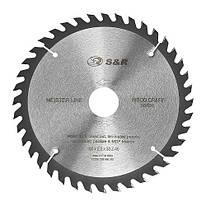 Диск пильный 185х30 мм S&R WoodCraft 40 зубов (238040185)
