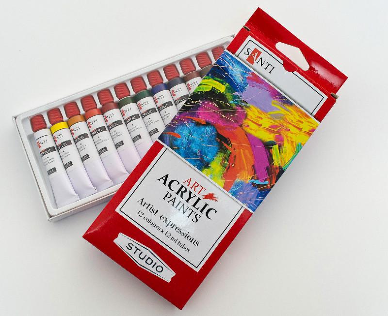 Краски акриловые Santi Studio 12мл*12шт №351117