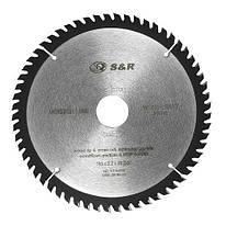 Диск пильный 185х30 мм S&R WoodCraft 60 зубов (238060185)
