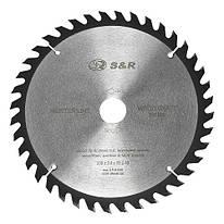 Диск пильный 230х30 мм S&R WoodCraft 40 зубов (238040230)