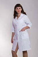 Красивый медицинский халат белый с карманами